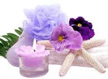 Spa Items Purple Stock Photo