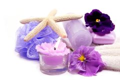 Spa Items Purple Royalty Free Stock Photography