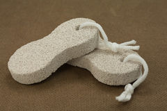 Spa items. Stone sponge for use in bathroom and spa stock image