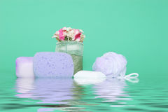 Spa items - water effect Stock Photo