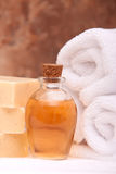Spa Items With Essential Oils Stock Photos