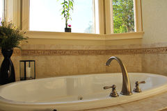 Spa jacuzzi bath tub Stock Photos