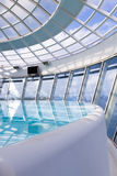Spa jacuzzi pool with glass roof Royalty Free Stock Photos