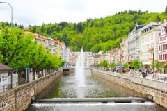 Spa Karlovy Vary , Tepla river Royalty Free Stock Images