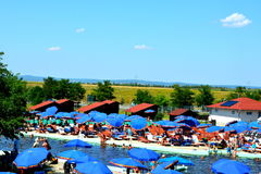 Spa and lake in the village Persani, Transylvania Royalty Free Stock Photo