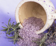 Spa Lavender cosmetics Stock Photography