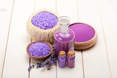 Spa lavender minerals Stock Photo