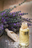 Spa with lavender oil and bath salt Stock Image
