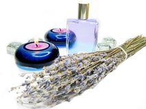 Spa lavender oil essence Royalty Free Stock Photography