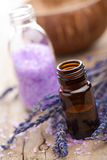 Spa with lavender oil and salt Stock Image