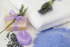 Spa lavender products Stock Image