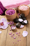 Spa lavender salt set Stock Images