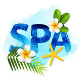 Spa letters Stock Photos