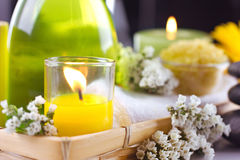 Spa  lifestill  with flower Royalty Free Stock Photos