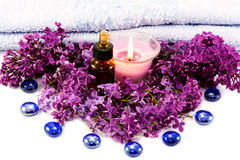 Spa with lilac Royalty Free Stock Photo