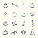 Spa line icon set Royalty Free Stock Images