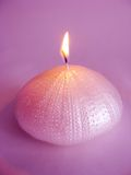 Spa lit candle romantic atmosphere Royalty Free Stock Photos