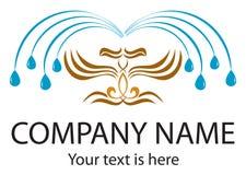 Spa logo. Logo design with eagles fountain Stock Images