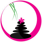 Spa logo. Vector illustration of spa stones on white background royalty free illustration