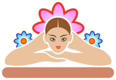 Spa logo Royalty Free Stock Images