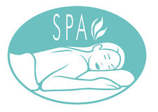 Spa Logo Royalty Free Stock Photo