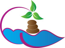 Spa logo royaltyfri illustrationer