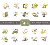 Spa logo and design elements. Stock Images