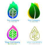 Spa logo and icons vector. Collection of corporate logo elements and icons Stock Photos