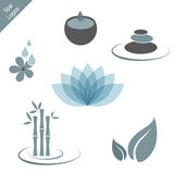 Spa logos stock illustration