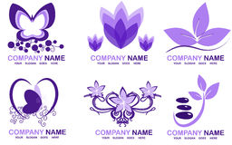Spa logos. Set with spa logos for your company Royalty Free Stock Photo