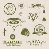 SPA logos, vector typography Royalty Free Stock Photo