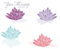 Spa Lotus. Lotus flowers with reflections. Vector art Illustrator 8 Royalty Free Stock Photography