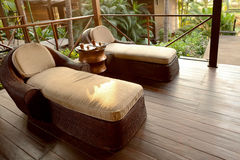 Spa lounge area for relaxation Royalty Free Stock Images
