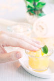 Spa manicure  setting Royalty Free Stock Photo