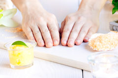 Spa manicure  setting Royalty Free Stock Image