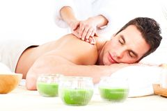 Spa massage royaltyfri bild