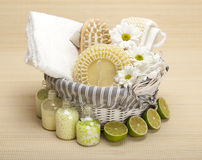 Spa - massage and aromatherapy Royalty Free Stock Photo