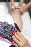 Spa massage with aromatherapy Royalty Free Stock Photos