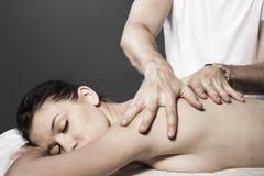 Spa massage for beautiful pretty woman - Beauty treatment therap Royalty Free Stock Photography