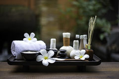 Spa massage compress balls, herbal ball and treatment  spa. Thailand, select focus Royalty Free Stock Image