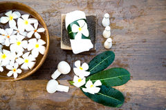 Spa massage compress balls, herbal ball and treatment  spa. Thailand, select focus Royalty Free Stock Photo