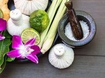 Spa massage compress balls royalty free stock photos