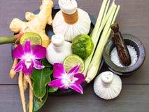 Spa massage compress balls stock image
