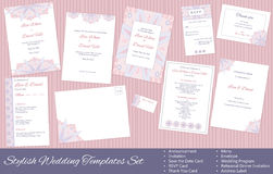Spa, massage gift certificate template Stock Photos