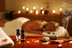 SPA massage in hotel Royalty Free Stock Photos