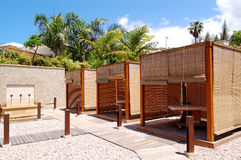 SPA massage huts at luxury hotel Stock Images