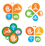 Spa massage icons. Stock Images