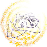 Spa massage illustration. For all design conditions Stock Photo