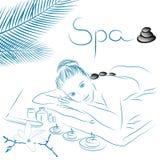 Spa massage illustration Royalty Free Stock Photo