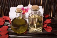 Spa massage oils Stock Images